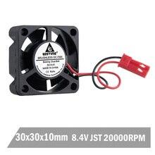 20 шт Gdstime 3010 30x30x10 мм 30 мм 3 см 8,4 в два шариковых подшипника JST DC бесщеточный охлаждающий вентилятор