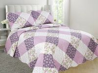 Bedspread Summer Quilted Flower Quilt Bedding Throws Blanket Plaids Coverlet (NO Pillowcase) Bed Cover Quilting Home Textiles