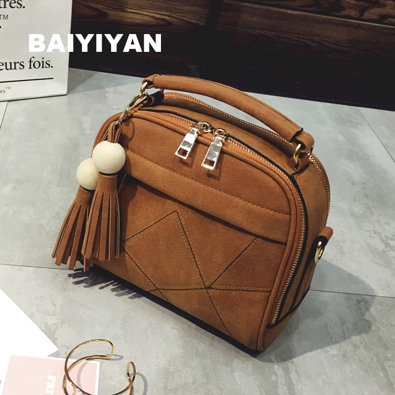 New Ladies Crossbody bag Tassel shoulder bag women's Messenger bag casual female handbag matte PU leather Tote Bag new cute kids tote girls shoulder bag mini bag bowknot handbag designer pu children baby tassel messenger bag women bag