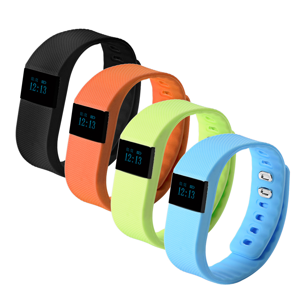 TW64 Smart Bracelet Sports Activity Fitness Tracker Bluetooth Wristband Sleep Pe
