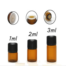 30ps 1ml 2ml 3ml small brown amber clear Glass vials bottle 1ml glass bottle