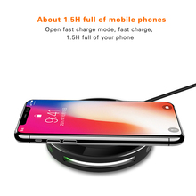 Qi Fast Wireless Charger for iphone 8 8 Plus X GOLDFOX Wireless Charger Charging Pad For Samsung S8 Plus S7 edge Note 8