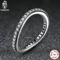New 925 Sterling Silver Rings for Women 3 Size Irregular Crystals 925 Silver Wedding Rings Compatible with Pan Jewelry 7171