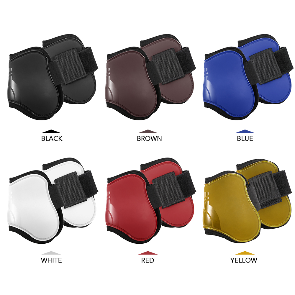 Image 5 - 2 PCS Horse Hind Boots Equine Leg Guard Horse Tendon Shin Protection Neoprene Horse Hock Brace-in Horse Care Products from Sports & Entertainment