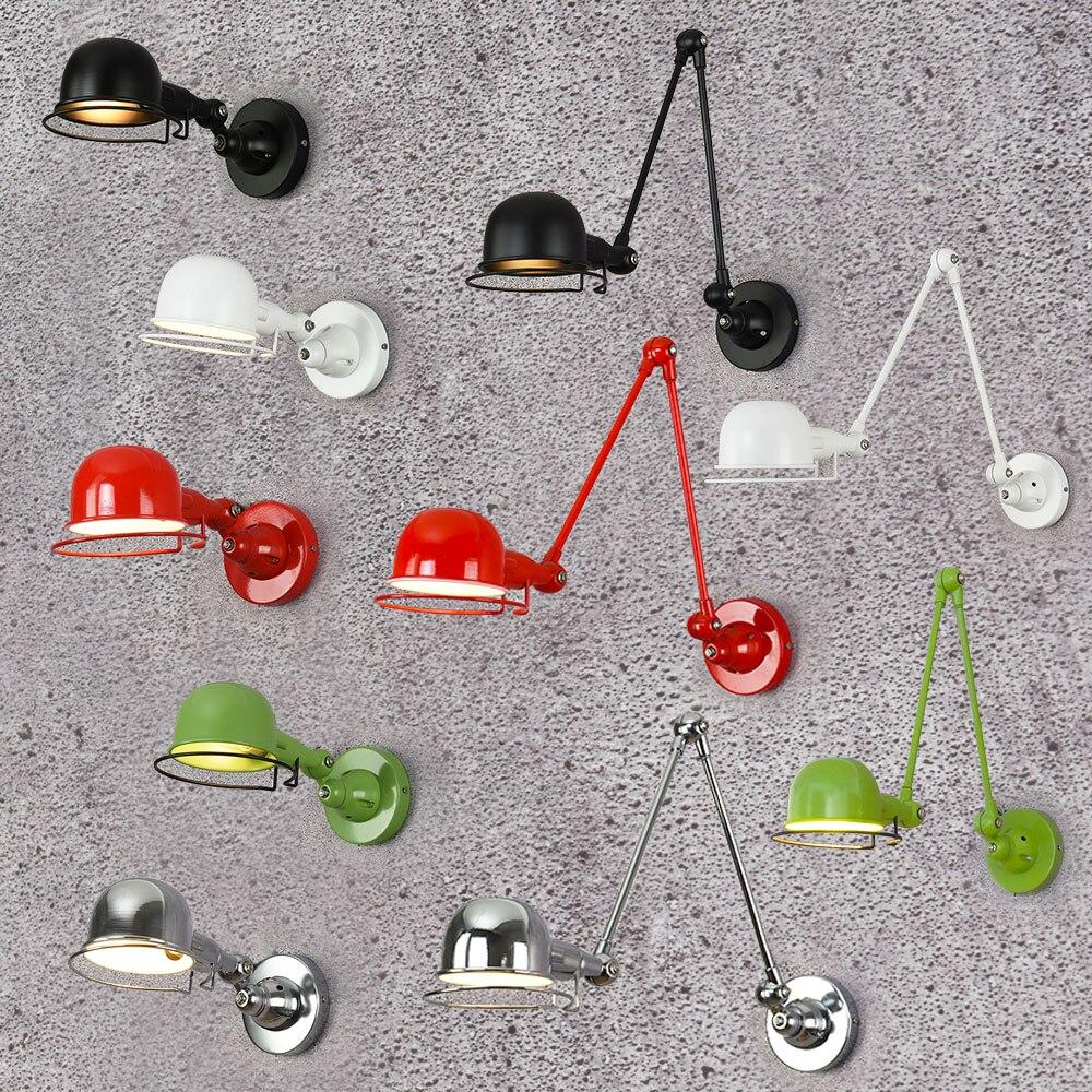 ღ ღClassique Nordique style loft industriel réglable Mur Lampe ...