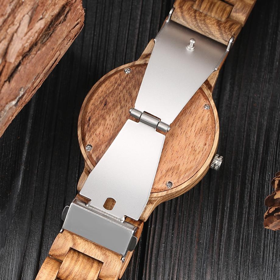 YISUYA Wooden Watches Quartz Analog Men Bamboo Modern Wristwatch Nature Wood Top 2018 Creative Sports Clock saat Xmas Gifts (14)