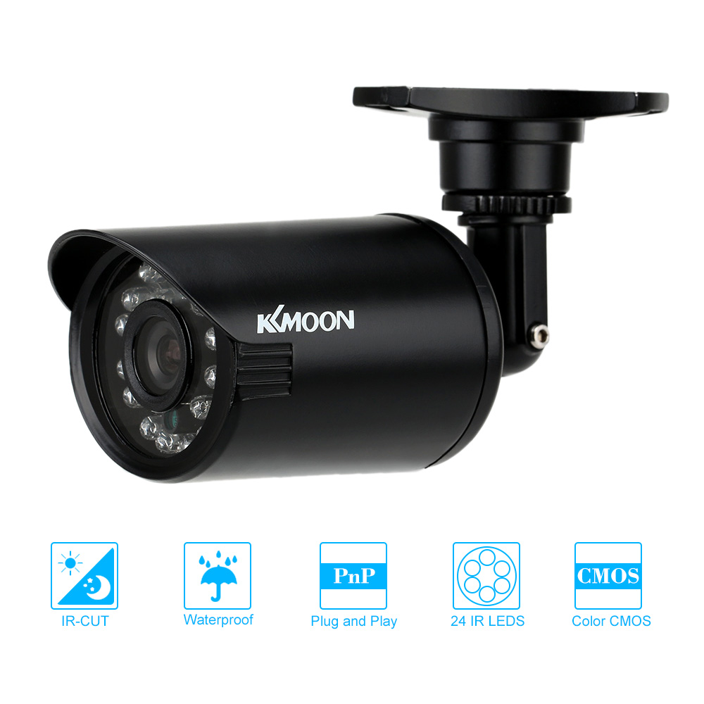imágenes para KKMOON 800TVL Cámara Impermeable de Seguridad CCTV Cámara de la Bala Al Aire Libre CMOS IR-CUT 3.6mm Visión Nocturna 24 IR LED para el Hogar seguridad