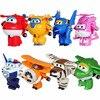 2016 4pcs Set Super Wings Toys Mini Planes Model Transformation Robot Deformation Airplane Robot Boys Christmas