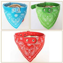 New Adjustable Pet Dog Cat Bandana Scarf Collar Neckerchief 4 Sizes 4 Colors Free Shipping
