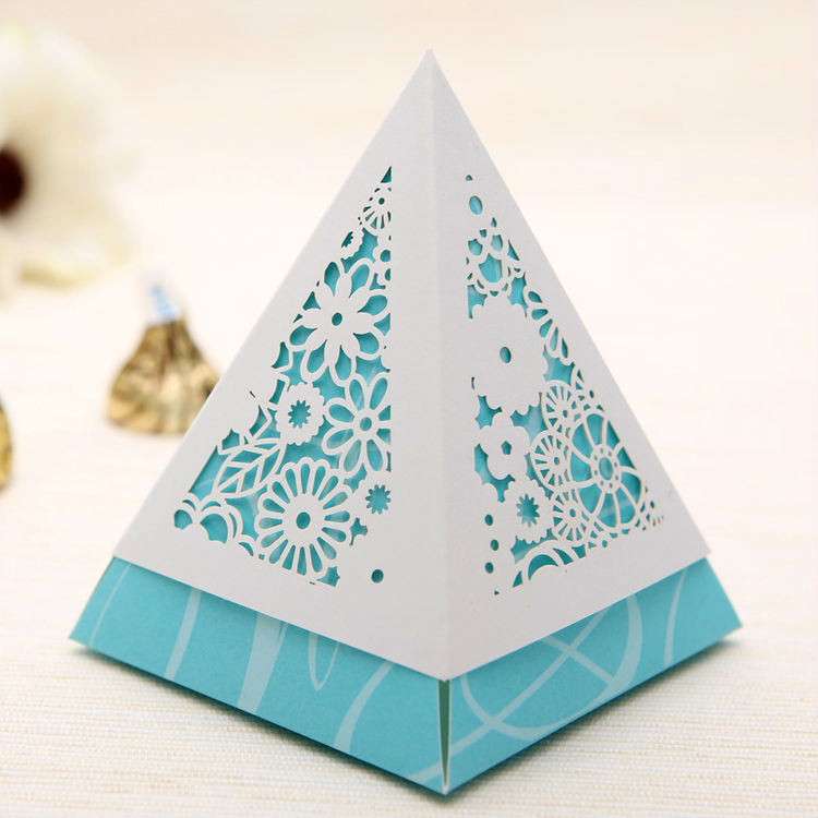 - 5Blue Laser Floral Cutout Wedding Candy Boxes Gifts Favors Supplies Shop store