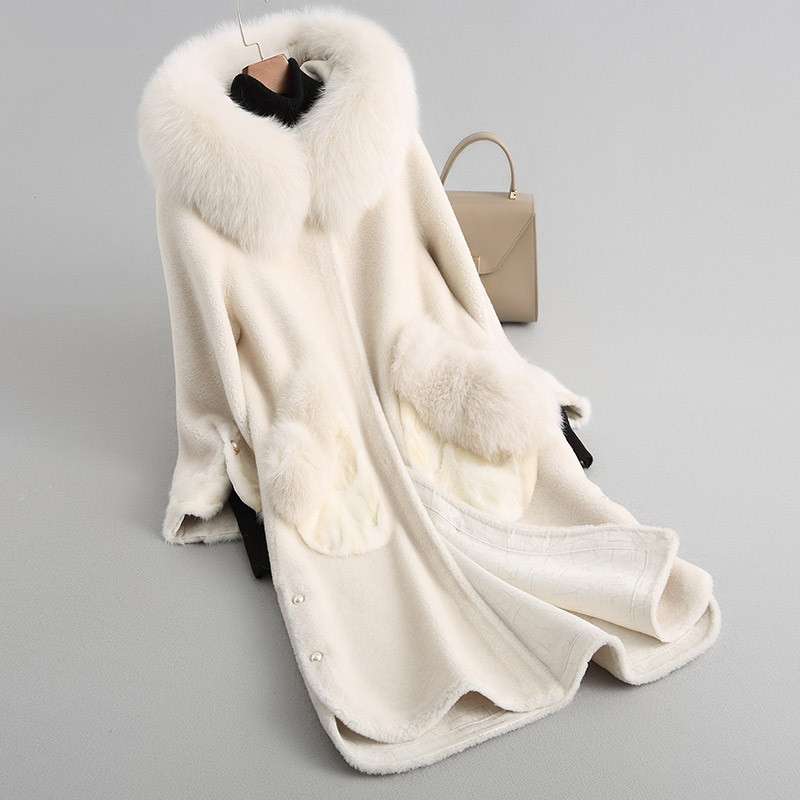 Trim bleu Cisaillement Nouvelle Mode D'hiver Z397 camel