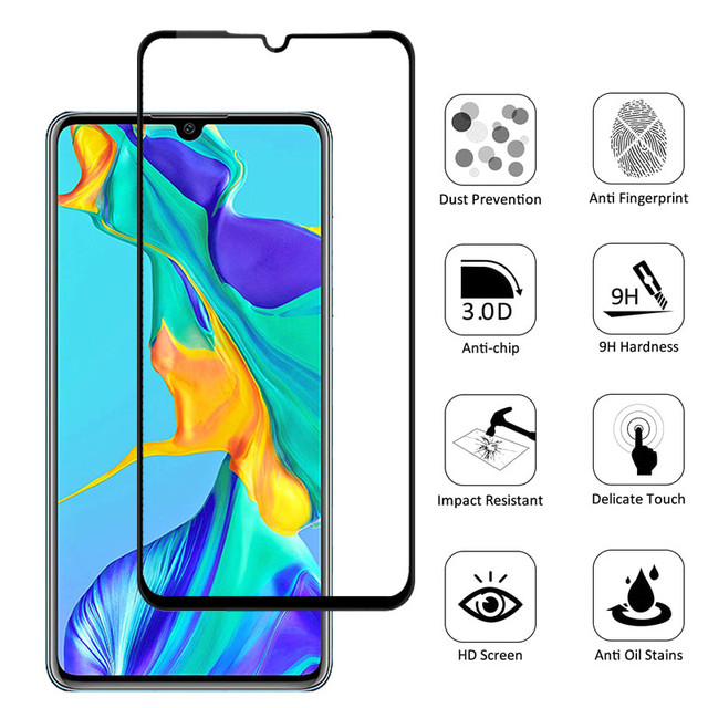 2 in 1 Tempered Glass For Huawei P30 P30lite glass Cover Camera lens Screen Protector Film Protective Glass For Huawei P30 lite
