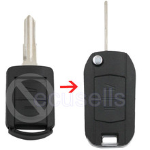 2 BUTTON FLIP KEY CASE UPGRADE FOR OPEL VAUXHALL CORSA C MERIVA COMBO REMOTE FOB
