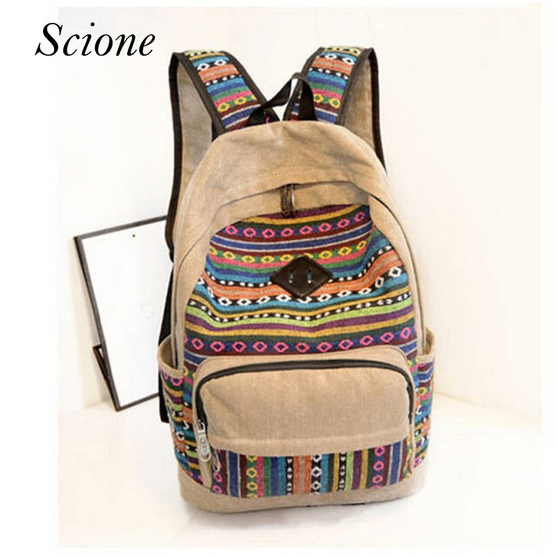 c7884f4f6f163 2018 Casual Canvas Women Backpacks School Bags for Teenagers Girls Men Book  Schoolbags Travel Mochilas Femininas Rucksacks Li206