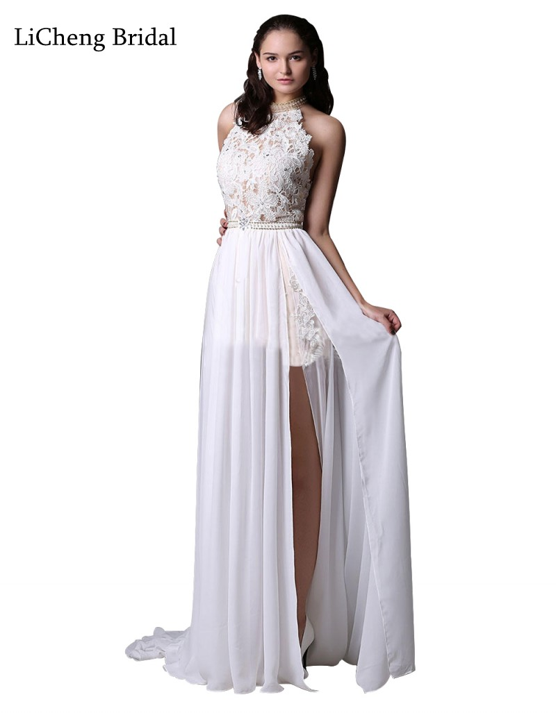 2017 newest high low wedding dresses with trousers inside for Strapless and backless wedding dress