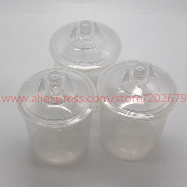 Paint Mixing Cup ,Free shipping Spray gun PPS Type H/O Quick Cup, No cleaning Cups and Collars (hard cup+inner cup+lids) 600ml
