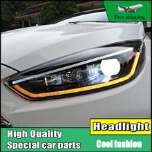 Head Lamp Case For Ford Focus MK3 2015-2017 Headlights LED Headlight DRL Lens Double Beam Bi-Xenon HID Dynamic Turn Signal Light