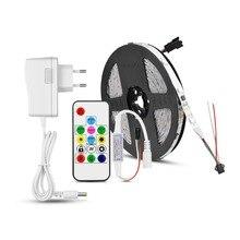 Прибор приемно-WS2811 IC Светодиодные ленты светильник мечта Цвет 30 пикс./м отдельных программируемых RGB светодиодный лента лампа для Кухня украшения