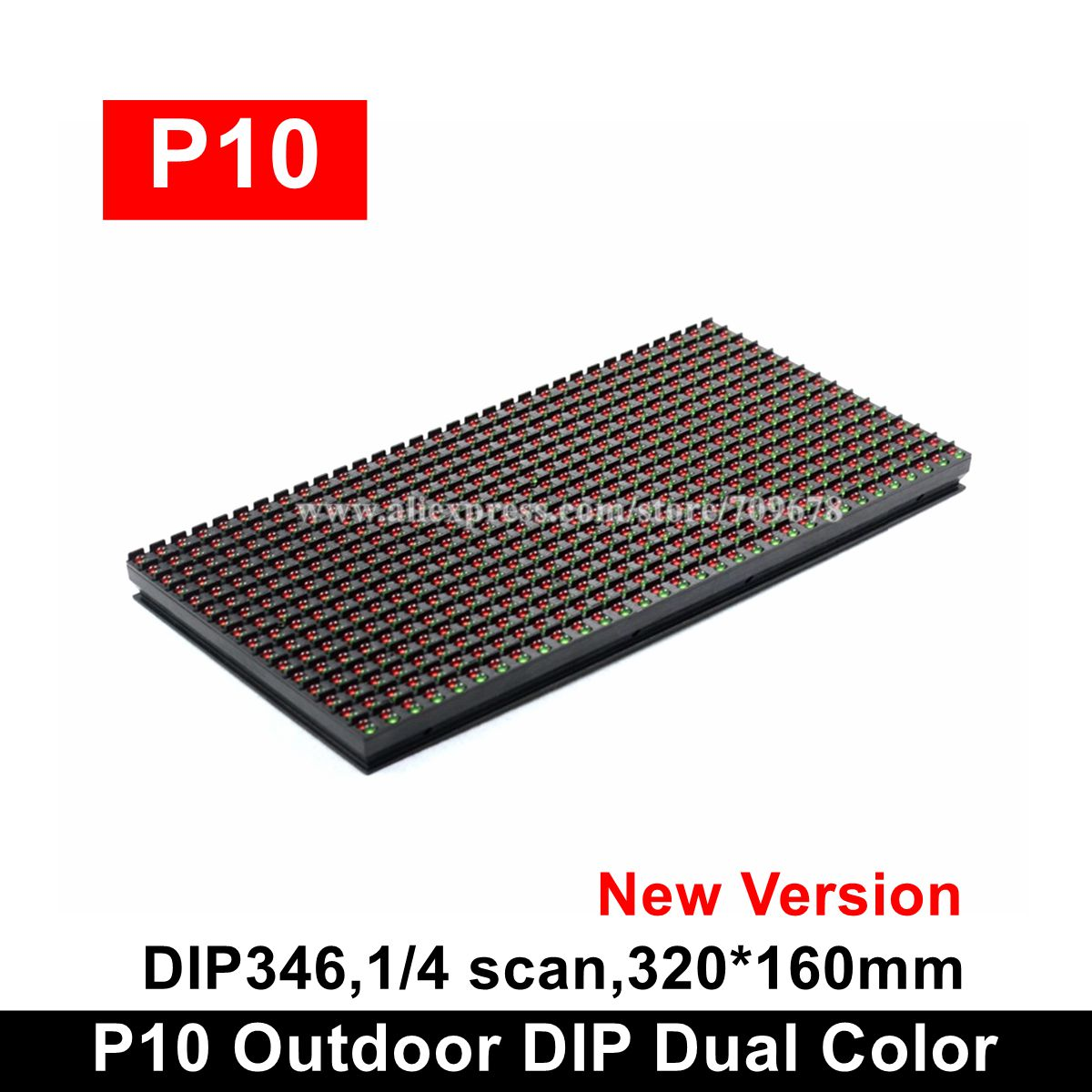 Hot Sale P10 RG DIP Outdoor Two Colors Led Display Module 320x160mm, High Brightness Exterior P10 RG Bi-color Led Module