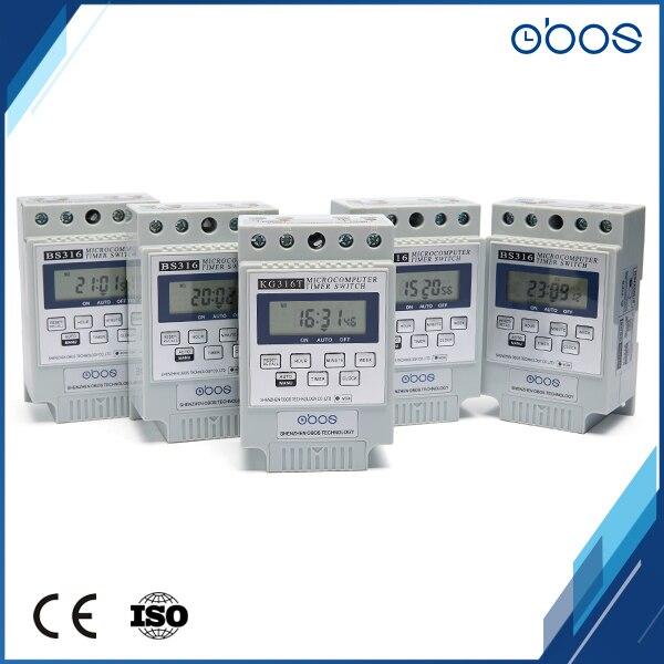 Marque OBOS minuterie numérique 230V minuteries électroniques interrupteur de minuterie électrique avec 10 fois marche/arrêt par jour plage de réglage de la synchronisation 1 min-168 H
