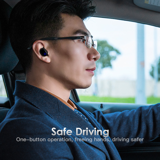 KUULAA Bluetooth 5.0 Earphone Sport True Wireless Earphones TWS Earbuds Handsfree Headset For iPhone Xiaomi Samsung Phone Gaming