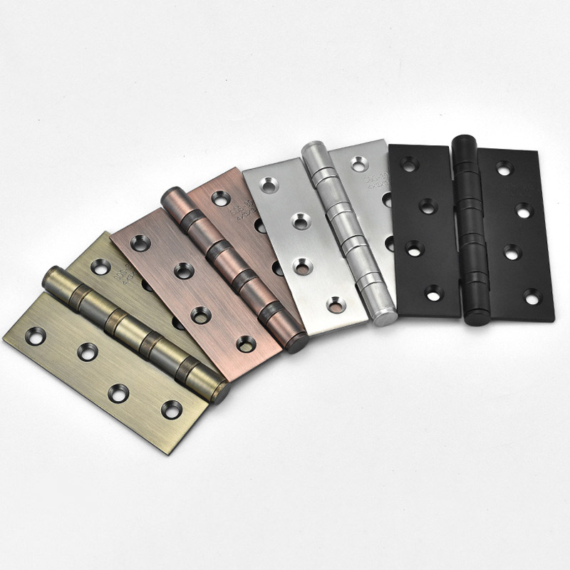 1 Pair Stainless Steel Wood Doors Cabinet Drawer Box Interior Hinge 4 Inch Door Hinges Furniture Hardware Accessories Ho 10pcs naierdi mini bronze gold hinge square antique door hinges for wooden cabinet drawer jewellery box furniture hardware