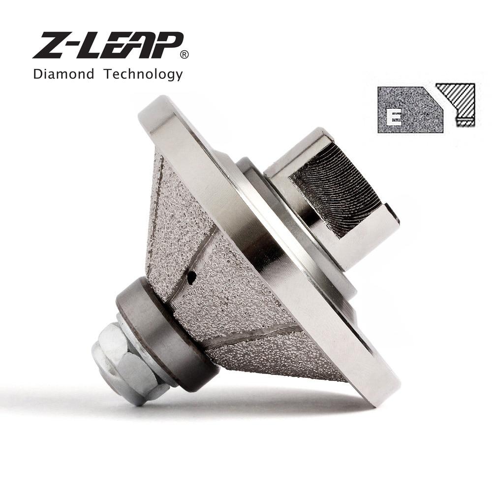 Z LEAP Vaccum Brazed Diamond Hand Edge Profile Wheel E20 D65 M14 5 8 11 Thread