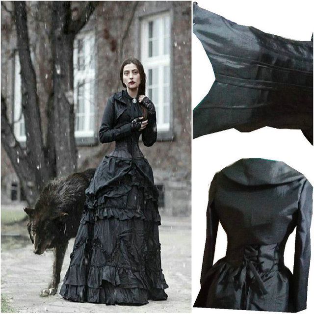 D 199 Victorian Gothic/Civil War Southern Belle pleated Ball Gown ...