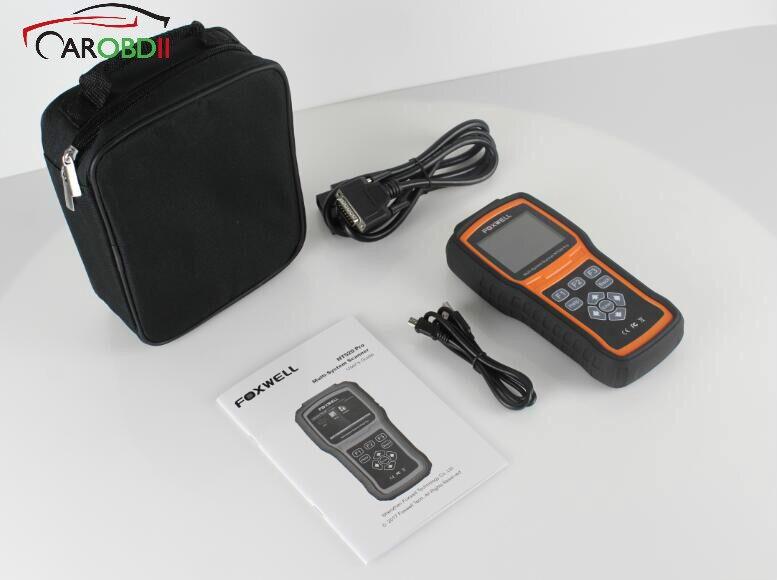 Foxwell NT520 Pro мульти системный сканер с бесплатным для программного обеспечения Mercedes Benz и дополнительным Foxwell для Benz 38Pin и удлинитель