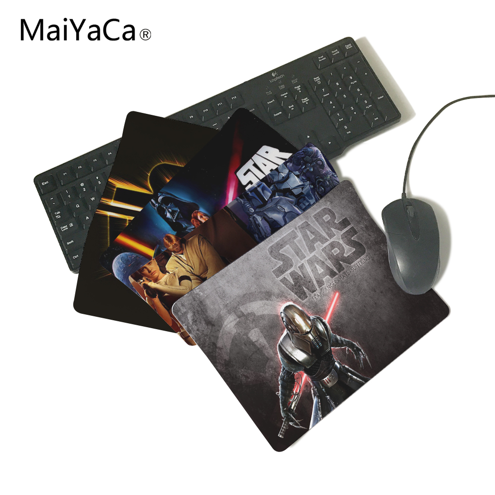 лучшая цена MaiYaCa Star Wars Sith Warrior Computer Mouse Pad Mousepads Decorate Your Desk Non-Skid Rubber Pad 250mmx290mmx2mm