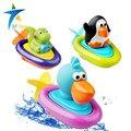 2016 новый детские игрушки для ванной ралли плавающей игрушки для детей играть в вода лодка плавание заводной веревки игрушки колеса тип dabbling игрушка