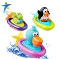 2016 novo bebê brinquedos para o banho de rali flutuante brinquedos as crianças brincam no a piscina de água barco brinquedos clockwork rope roda tipo dabbling toy