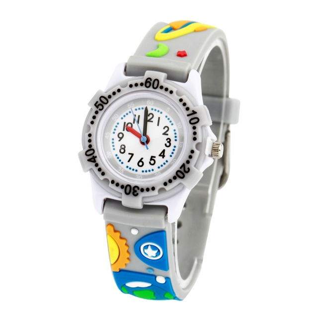 WL Waterproof Kids Watches Children Outer space 3D cartoon Silicone Wristwatches