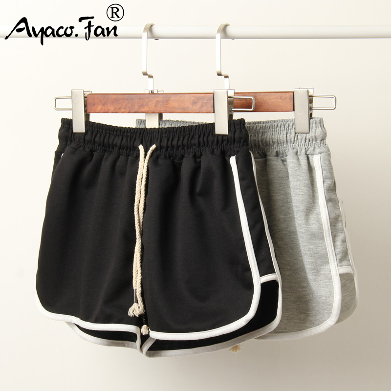 2019 Woemen Shorts Summer Sports Patchwork Elastic Skinny Soft Women Shorts For Girls Students Lady Casual Slim Running Shorts