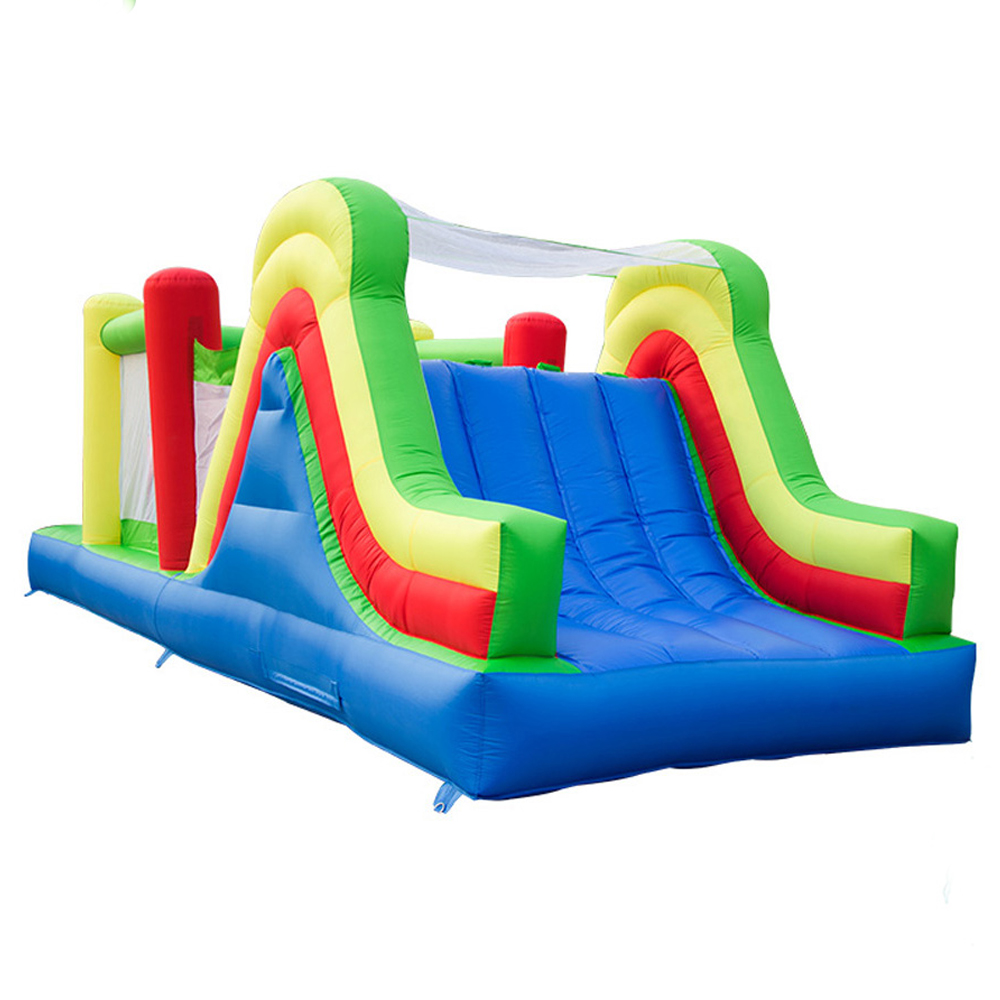 YARD Inflatable Jumping House Castle 6 5x2 8x2 7m Double Slides Kids PVC Oxford Inflatable Trampoline Castle Bouncer With Blower in Inflatable Bouncers from Toys Hobbies