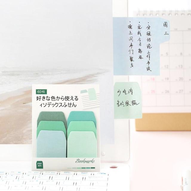 Index coloré Post It Kawaii autocollant feuille mignon mémo bloc-notes mignon bloc-notes papeterie bureau et fournitures scolaires