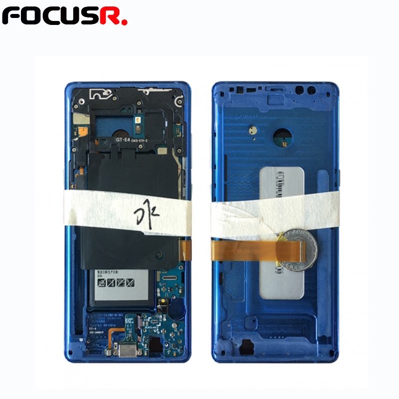 FOCUSR. LCD Screen Testing Mainboard / <font><b>Motherboard</b></font> with Middle Housing Frame and Battery For SamsungS6 series to S8 series image