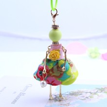 цены New Fashion Sweet Girl Doll Pendant Necklace Lovely Cute Flower Necklace Jewelry Accessories for Women Child Gift