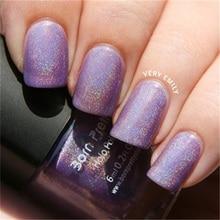 6ml Purple Born Pretty Holographic Holo Glitter Nail Polish Varnish Hologram Effect 9#