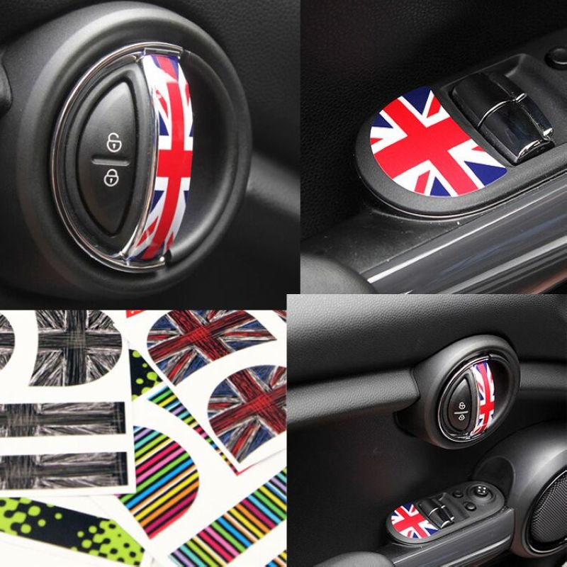 etie car styling mini cooper vinyl stickers accessories adhesive wrapping interior door handle. Black Bedroom Furniture Sets. Home Design Ideas
