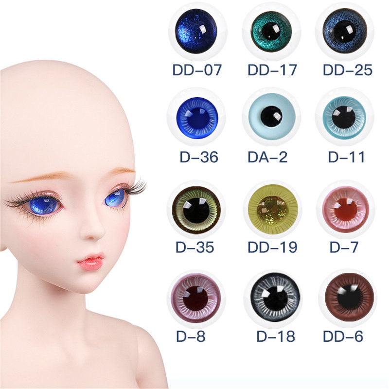 Dream Fairy Eyes for 1/3 BJD Doll Replaceable 14mm Glass Eyeball Suitable for 60cm Ball Joint Doll DIY Toy Doll Accessories