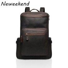 High Quality Genuine Leather Men backpack big crazy horse leather backpack Rucksack men Travel bag leather Luggage Bag YD-09081
