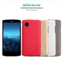 for Nexus 5 Case Nillkin Frosted Shield Hard Back Cover Case For LG Google Nexus 5 Gift Screen Protector