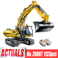 DHL 20007 Power Functions Technic Car Series The 8043 Excavator with Motor Set Building Blocks Bricks Assembly Kits Kids Toys