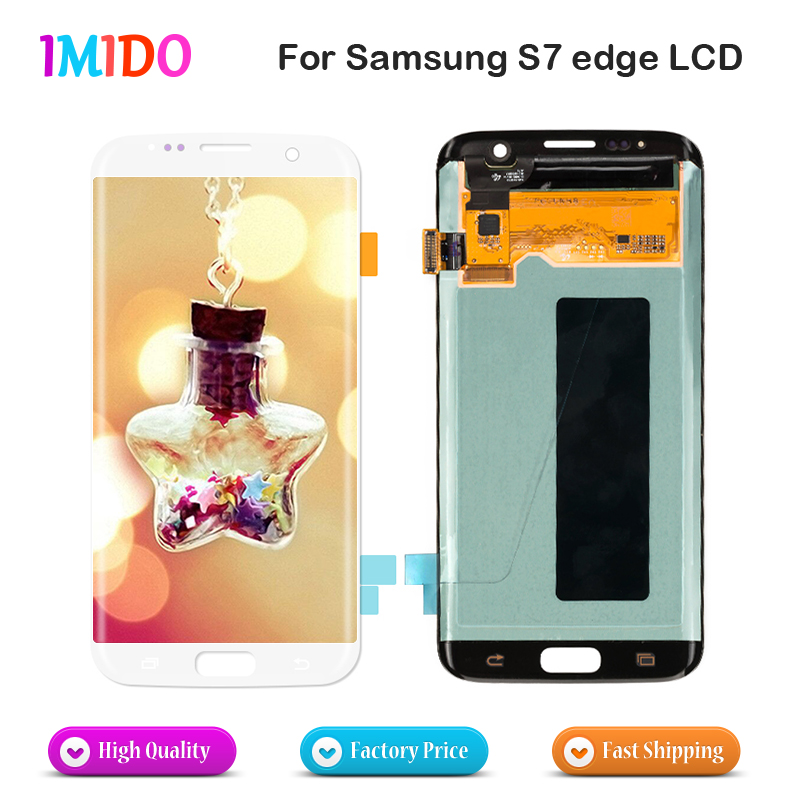 3Pcs Super AMOLED LCD display For Samsung Galaxy S7 edge G935 G935F LCD touch screen digitizer Assembly replacement parts