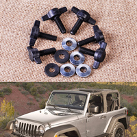 6Sets Hard Top Quick Removal Fastener Change Tee Knobs Screw Nut Kit Fit For Jeep Wrangler