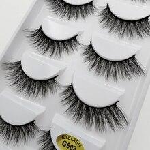 YSDO 1 box new arrivals mink eyelashes 12mm natural long lashes 5 pairs  false hand made makeup G603Y