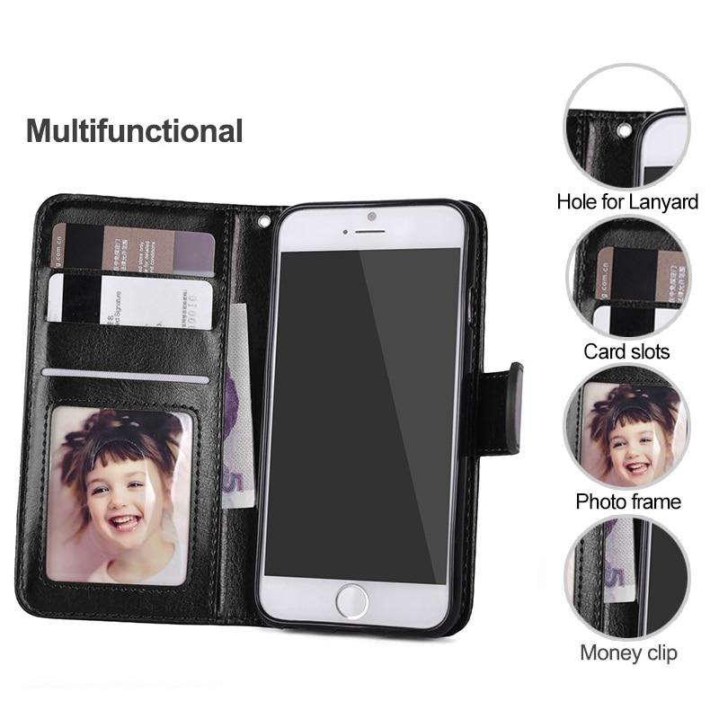 LANCASE Untuk iPhone 6 Kasus Kulit 2 in 1 Magnetic Dilepas Flip Cover - Aksesori dan suku cadang ponsel - Foto 2