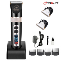 BaoRun P9 Professional Pet Dog Hair Trimmer Electrical Animals Grooming Clipper Rechargeable Cat Haircut Machine LCD Display