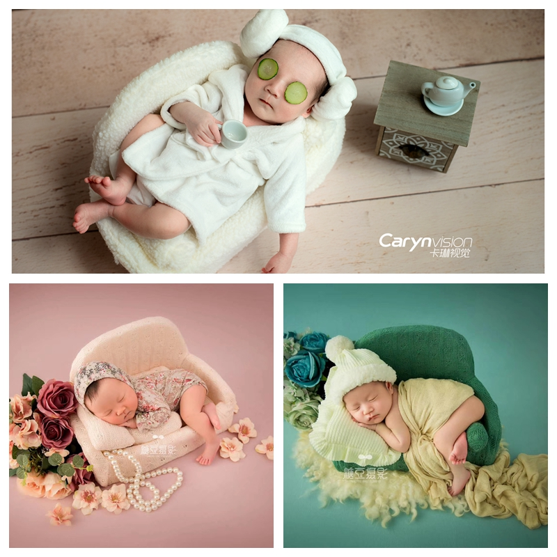 Creative Newborn Photography Props Hundred Days Baby Sofa And Pillow Set Swing Chair Decorative Photography Accessories